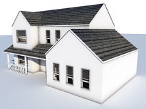 Whitehouse. 3d model of a white house made in C4D Stock Images