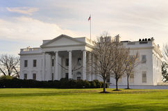 Whitehouse of American President. View of Whitehouse of American President in Winter Time Royalty Free Stock Photography