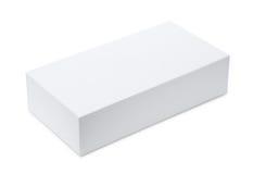 Whitel blank product box. Isolated on white Royalty Free Stock Photo