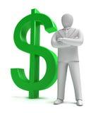 Whiteman e sinal do dinheiro Imagem de Stock Royalty Free