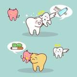 Whiten teeth vs brown teeth Stock Images