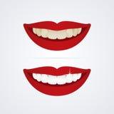 Whitening teeth illustration Stock Image