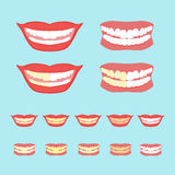 Whitening teeth vector illustration  on Stock Images