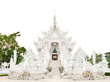 Pagoda at the Thai temple, Thailand. Whitepagoda at the Thai temple, Khonkaen Thailand, Buddha church at the Thai temple style Royalty Free Stock Photos