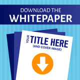 Whitepaper or Ebook Graphic. With Replaceable Title Stock Photos