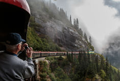 Whitepass, Yukon trasy linia kolejowa - Obraz Stock