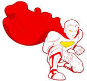 WhiteRed-Superheld Lizenzfreie Stockfotos