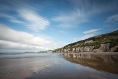 Whiterocks海滩,安特里姆 库存图片