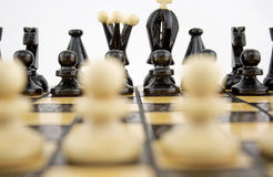 Whites before the chess game Royalty Free Stock Photography