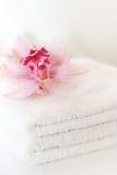 Whites towels Stock Photos