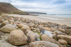 Whitesand bay in cornwall england UK Stock Photography
