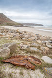Whitesand bay in cornwall england UK Royalty Free Stock Images
