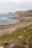 Whitesand bay in cornwall england UK Stock Photos
