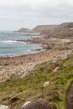 Whitesand-Bucht in Cornwall England Großbritannien Stockfotos