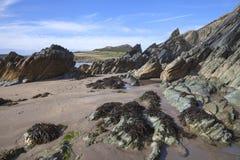 Whitesands zatoka, Pembrokeshire Obraz Stock