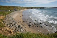Whitesands zatoka Pembrokeshire Zachodni Walia UK Zdjęcia Royalty Free