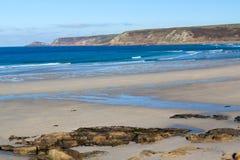 Whitesands zatoki Sennen zatoczka Cornwall Fotografia Stock