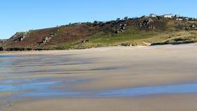 Whitesands zatoki Sennen zatoczka Cornwall Obrazy Stock