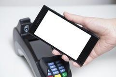 Whitespace mobile de paiement photos libres de droits