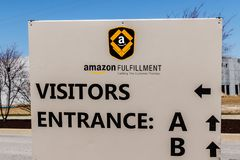 Whitestown - Circa March 2018: Amazon.com Fulfillment Center. Amazon is the Largest Internet-Based Retailer in the US VI. Amazon.com Fulfillment Center. Amazon stock image