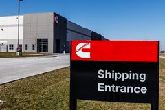 Whitestown - Circa March 2018: Cummins Inc. Signage and Logo. Cummins is a Manufacturer of Engines and Power Equipment III. Cummins Inc. Signage and Logo Stock Images