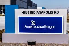 Whitestown - circa marzo 2018: Centro di distribuzione farmaceutico di AmerisourceBergen Walgreens possiede un palo I di 26 per c Fotografia Stock Libera da Diritti