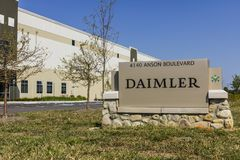 Whitestown - Circa September 2017: Daimler Trucks North America Distribution Center. Daimler Trucks is formerly Freightliner I Stock Image