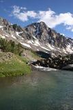 Whitetail Peak - Montana. Taken over the West Fork of the Rock Creek towards Whitetail Peak, Montana stock photos