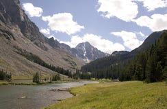 Whitetail Peak - Montana. Taken over the West Fork of the Rock Creek towards Whitetail Peak, Montana stock image