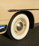 Whitewall Tire on a Classic Car Stock Photography