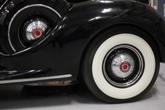 Whitewall Tire on a 1939 Packard Stock Photo
