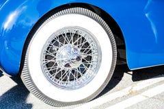 Whitewall Tire on Spoked Wheel Royalty Free Stock Photo