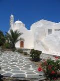 Whitewash Building. Paros, Greek Islands stock photo