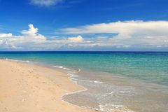 Whitewash on tropical caribbean beach. Whitewash on tropical caribbean island Stock Image