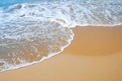 Whitewash on tropical caribbean beach royalty free stock images