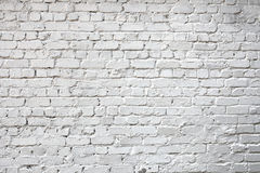 Whitewashed brick city wall for background Stock Photo