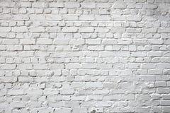 Whitewashed brick city wall for background Stock Photo