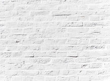 Whitewashed brick wall Stock Images