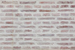 Whitewashed brick wall. Background texture Royalty Free Stock Photography