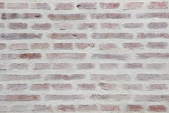 Whitewashed brick wall. Background texture Royalty Free Stock Photo