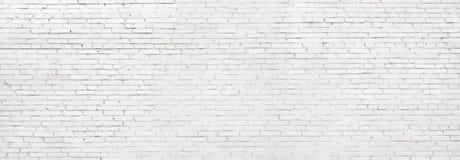 Grunge white brick wall, whitewashed brickwork background stock photography