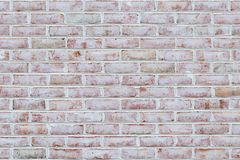 Whitewashed brick wall texture stock images
