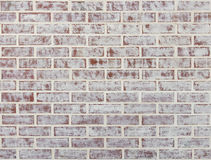 Whitewashed brick wall stock image
