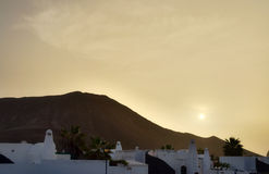 Lanzarote at dusk or dawn Royalty Free Stock Image