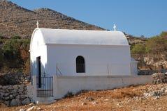 Whitewashed chapel, Halki Stock Photos