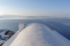 Whitewashed Cycladic house in Oia Stock Photos