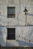 Whitewashed facade Stock Images