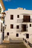 Whitewashed facades. Of Altea old town houses, Costa Blanca, Spain Royalty Free Stock Images
