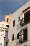 Whitewashed facades. Of Altea old town houses, Costa Blanca, Spain Stock Images