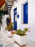 Whitewashed Greek Island House, Tinos Stock Images